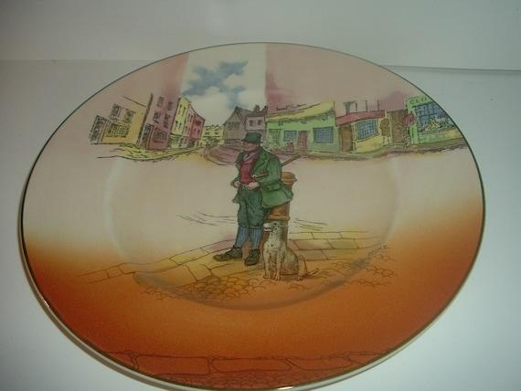 "Royal Doulton Dickensware  Bill Sykes 10"" Plate"