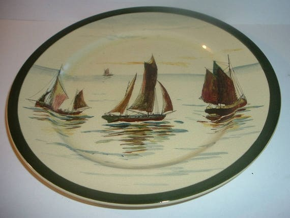Royal Doulton Sailboats plate old antique