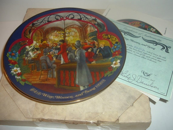 Wine Women and Song Waltzes Johann Strauss Plate w/ Box and COA