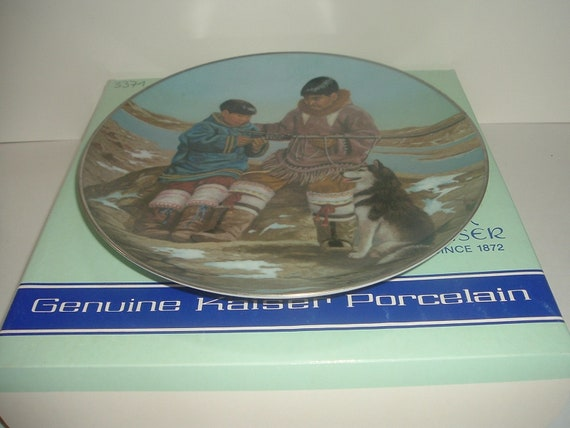 Kaiser Porcelain W Germany Odark and son Samik People Midnight Sun Plate Nori Peter
