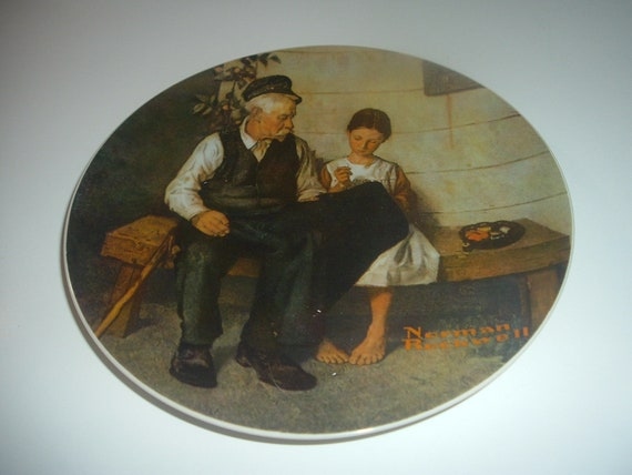 Norman Rockwell The Lighthouse Keepers Daughter Plate 1979 Vintage