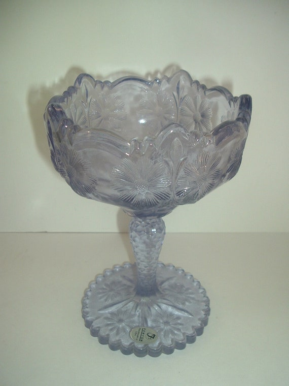 Fenton Glass Amethyst Compote