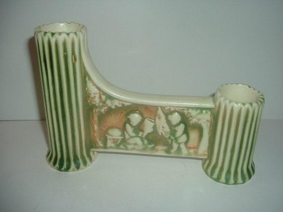 Roseville Art Pottery Donatello Double Vase