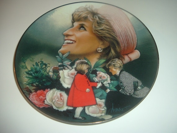 Princess Diana England's Rose Plate Franklin Mint