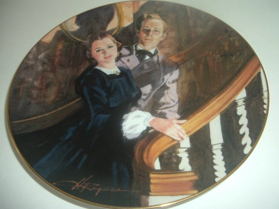 W. S. George Melanie and  Ashley Gone With The Wind Plate 1989
