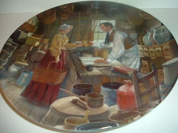 Lincoln Man of America Beginnings In New Salem Plate Edwin Knowles 1987
