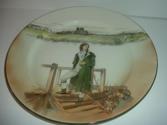 """Royal Doulton Dickensware Sydney Carton 10"""" Plate"""