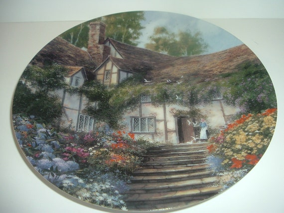 Summer's Bright Welcome Along an English Lane first issue plate 1993 Vintage