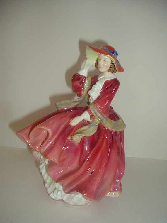 Royal Doulton Top of O The Hill Red Dress Lady Figurine
