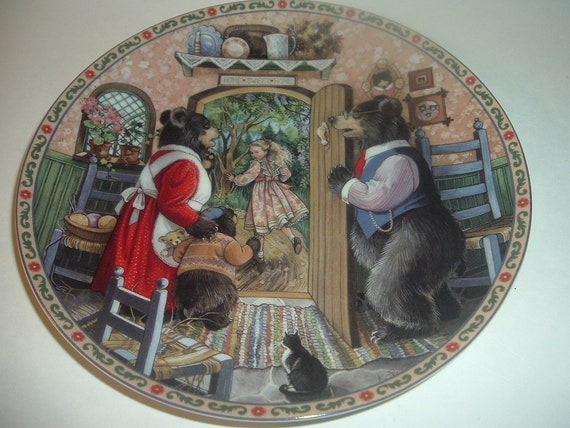 1989 Knowles Goldilocks and the Three Bears Once Upon A Time Plate