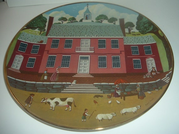 The Old Court House Ridgewood China Colonial Heritage Series Robert Franke Plate