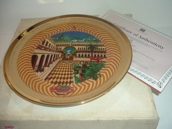 Utopia Lands of Fable Plate Ghent Porcelaine Etienne w Box COA 1982