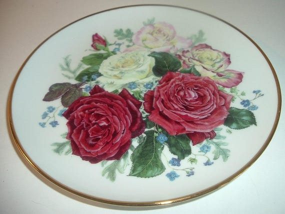 Majesty of Roses Fragrant Glory Plate Franklin Mint 1991
