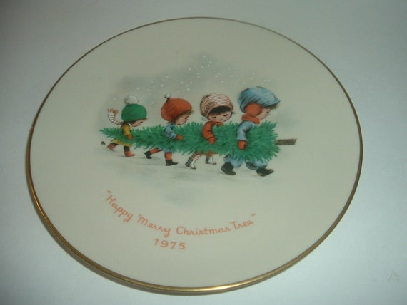 Gorham 1975 Moppets Christmas Plate