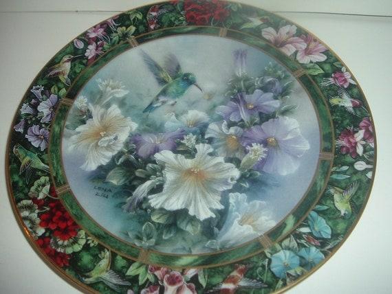 W S George Lena Liu Broad Billed Hummingbird Plate