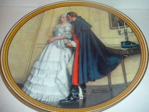 Norman Rockwell Colonials George Washington The Unexpected Proposal 1986 Knowles Plate