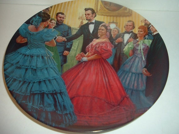 1987 Knowles Lincoln Man of America The Inauguration Plate
