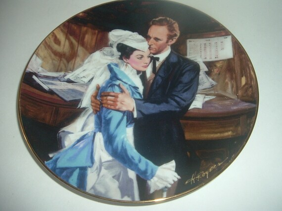 W. S. George A Question of Honor Scarlett Ashley Gone With The Wind Plate 1989