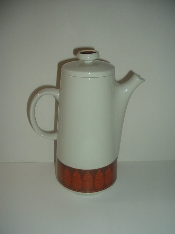 Franciscan Discovery Terra Cotta Mid Century Coffee Pot Vintage