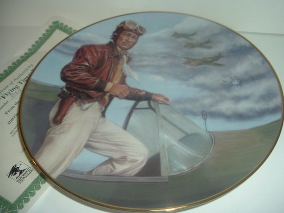 John Wayne Flying Tigers Plate Republic Pictures w COA 1993
