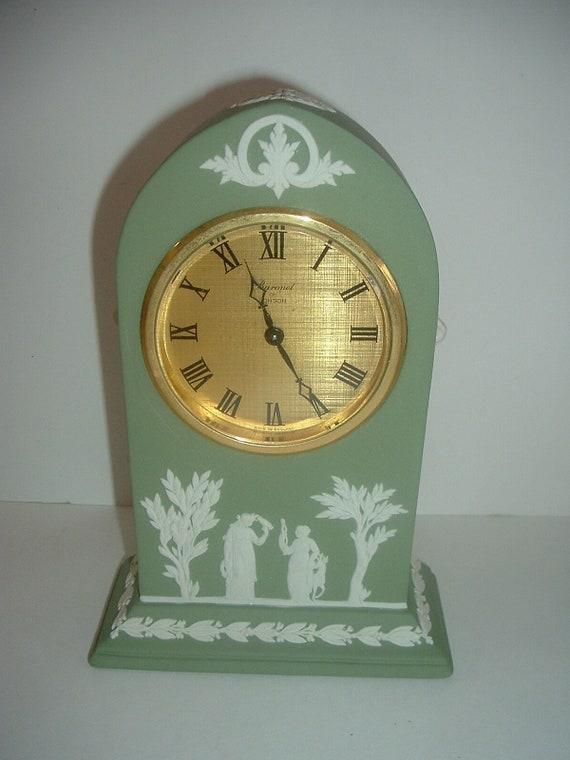Wedgwood Green Jasperware Clock - Works