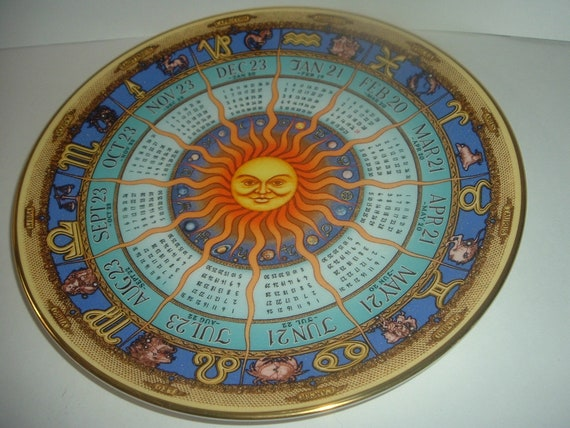 Royal Doulton Astrological Zodiac Plate by Bill Gregory 1991