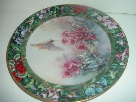 W S George Lena Liu Allen's Hummingbird Plate