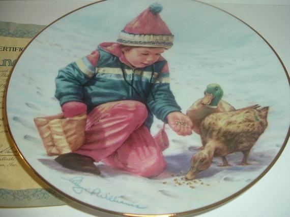 Handful of Love Magic of Childhood  Plate Abbie Williams Roman Hamilton Collection w COA