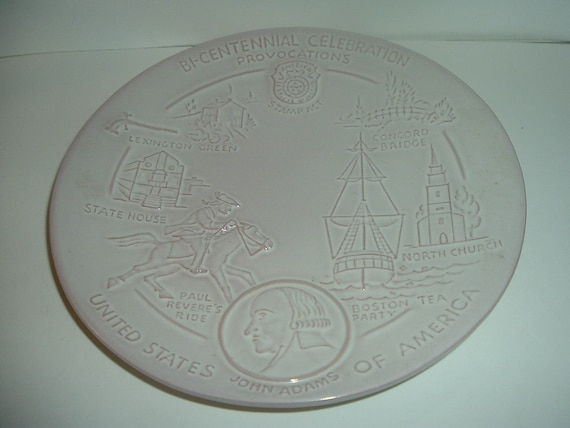 1972 Frankoma Pottery US Bicentennial Signers Declaration Independence Plate