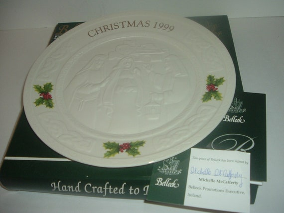 Belleek 1999 Christmas Plate