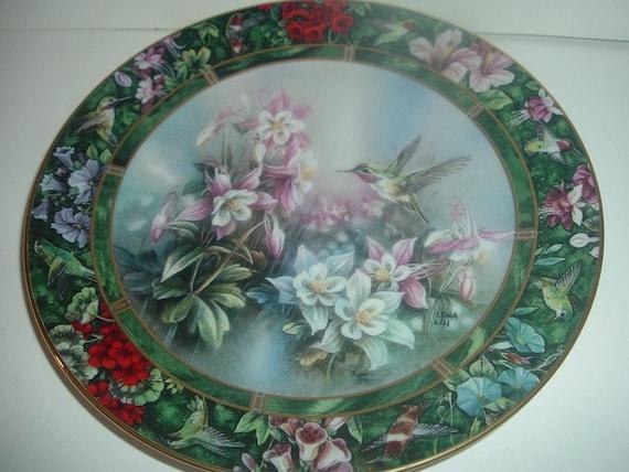 W S George Lena Liu Calliope Hummingbird Plate