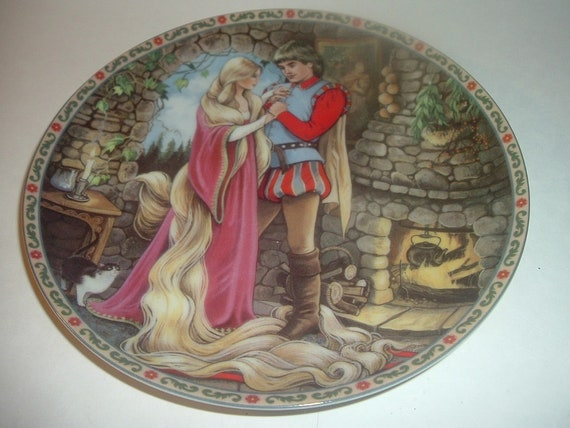 1988 Knowles Rapunzel Once Upon A Time Plate
