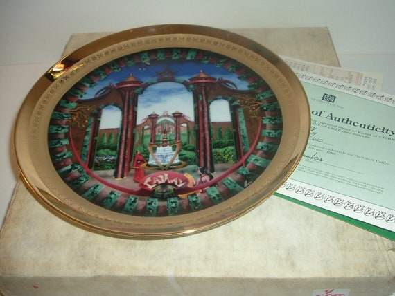 Cathay Lands of Fable Plate Ghent Porcelaine Etienne w Box COA 1982