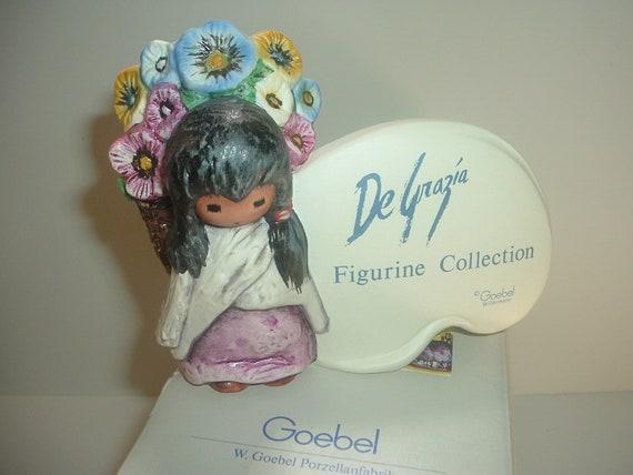Goebel DeGrazia Display Sign Plaque Girl Figurine in box