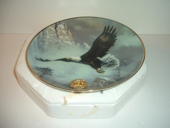 Alaska Chilkat Bald Eagle Save the Eagle by Ted Bldylock plate