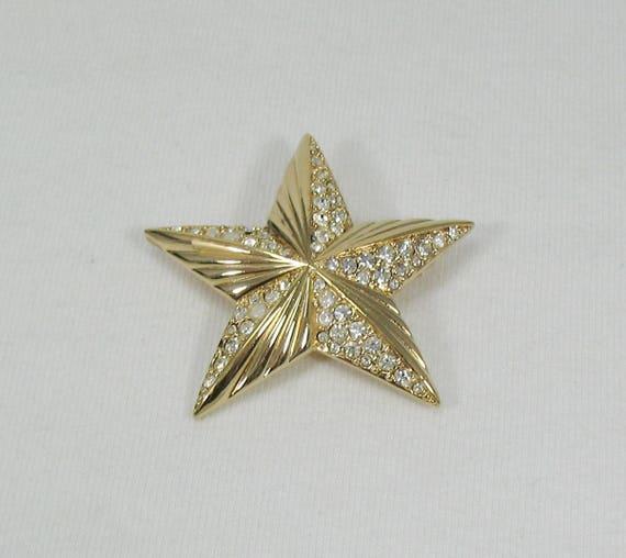 Swarovski Crystal Star Brooch - Vintage - image 3