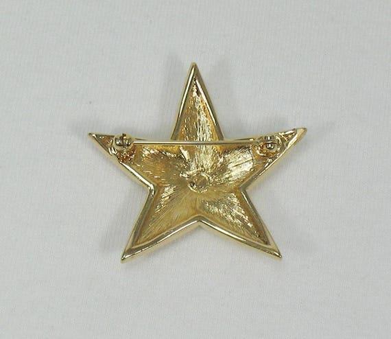 Swarovski Crystal Star Brooch - Vintage - image 5
