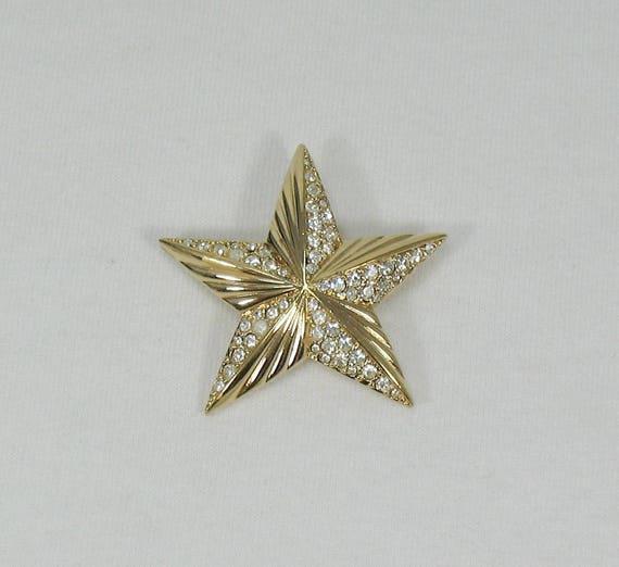 Swarovski Crystal Star Brooch - Vintage - image 4