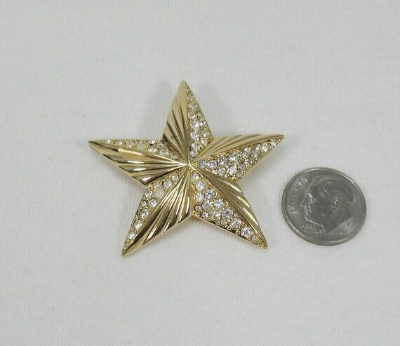 Swarovski Crystal Star Brooch - Vintage - image 7