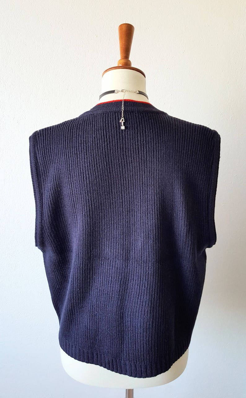 Vintage 90s Sweater Vest NORTON MCNAUGHTON Argyle Sweater Plaid Vest Preppy Sweater Button Up Vest Gold Button Hipster Indie  Medium Large