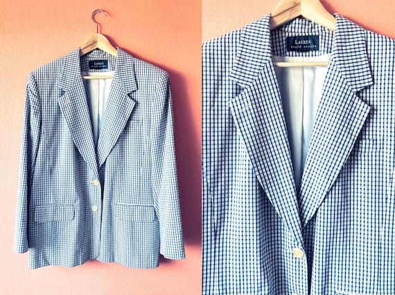 Vintage RALPH LAUREN Blazer / Men's Plaid Blazer /