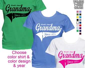 World's Finest Grandma - Personalized with Year - Classic Fit Ladies' T-Shirt