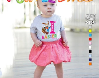 Baby's First Easter T-Shirt - Girls - infant - Personalized with Name & Year