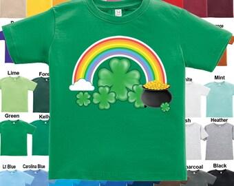 Rainbow Pot of Gold Shamrock T-Shirt - Boys / Girls / Infant / Toddler / Youth sizes