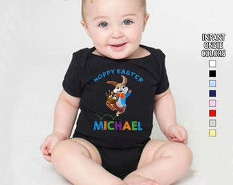 Hoppy Easter Bodysuit - Boys - Personalized with Name