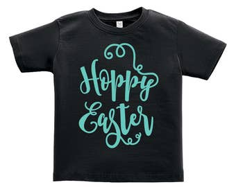 Hoppy Easter Blue words Design. Easter outfit. / Boys / Girls / Infant / Toddler / Youth sizes