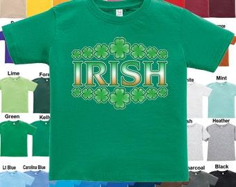 IRISH - Shamrock design T-Shirt - Boys / Girls / Infant / Toddler / Youth sizes