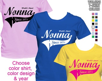 World's Finest Nonna - Personalized with Year - Classic Fit Ladies' T-Shirt (Italian Grandma)