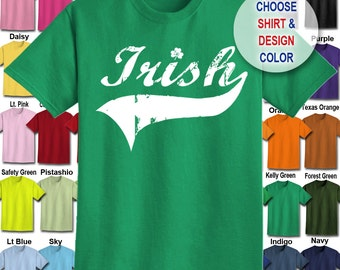 Irish T-Shirt - Adult Unisex - We carry sizes S - 5XL in 30 Colors!