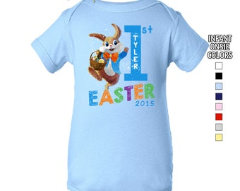 Baby's First Easter Bodysuit - Boys - Personalized with Name & Year